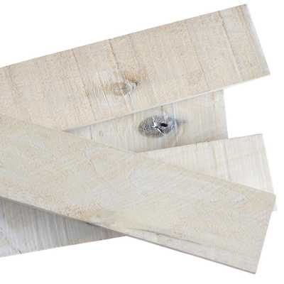 Weaber 1/2 in. x 4 in. x 4 ft. White Wash Weathered Hardwood Board (8-Piece) - Home Depot
