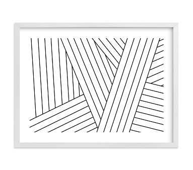 Minted Tension (Landscape) by Jaime Derringer, White, 30x40 - Pottery Barn Kids