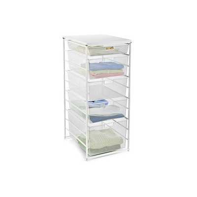elfa Narrow Mesh Dresser White - Narrow - containerstore.com