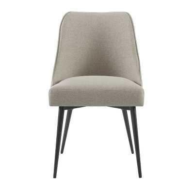 Nivens Upholstered Side Chair in Khaki (Set of 2) - Wayfair