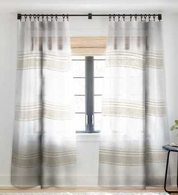 FRENCH LINEN TASSEL Sheer Window Curtain, 1 Panel - Wander Print Co.