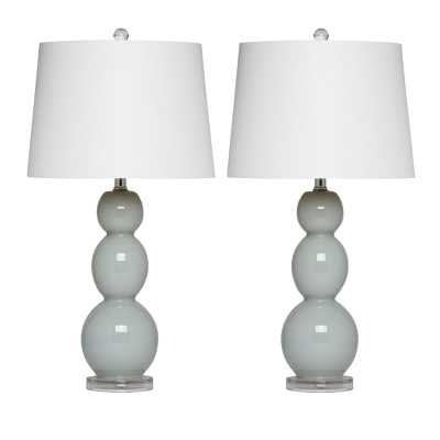 Glass Table Lamp,(Set of 2) - Wayfair