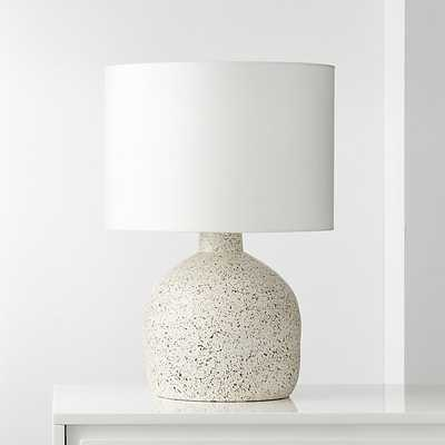 Largo Speckled White Ceramic Table Lamp - CB2