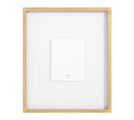 """Floating Wood Gallery Frame, Gold - 11"""" x 14"""" - Pottery Barn"""