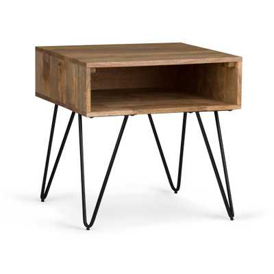 Hunter Natural End Side Table - Home Depot