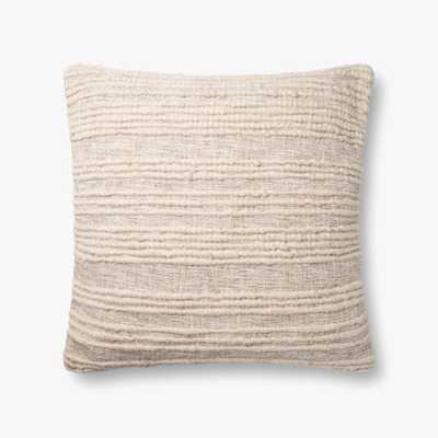 "Loloi PILLOWS P0862 Natural 22"" x 22"" Cover w/Poly - Loma Threads"