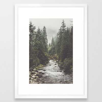 "Mountain creek - Landscape and Nature Photography Framed Art Print 20""X26"" - Society6"