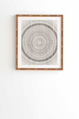 "Winter Wheat Framed Wall Art 8""x9.5"" - Wander Print Co."