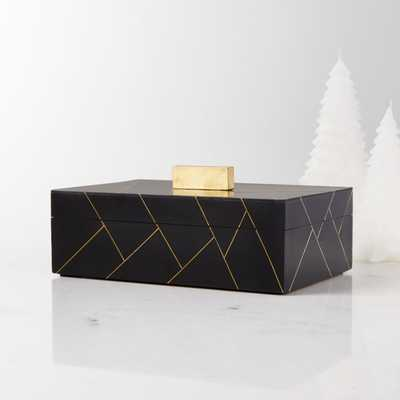 "Sidonia 9"" Long Decorative Box - Crate and Barrel"