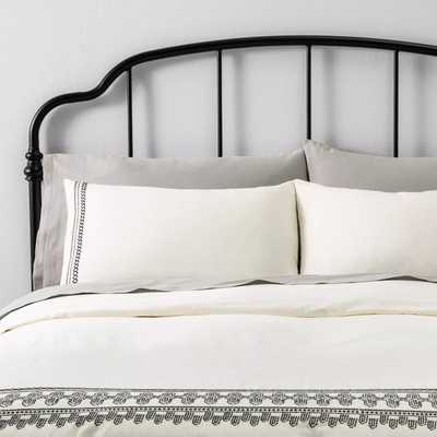 Duvet Cover Set Embroidered - Hearth & Hand™ with Magnolia - Target