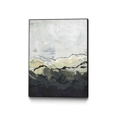 """CLICART 30 in. x 40 in. """"Winter Mountains I"""" by Jennifer Paxton Parker Framed Wall Art, Neutral - Home Depot"""