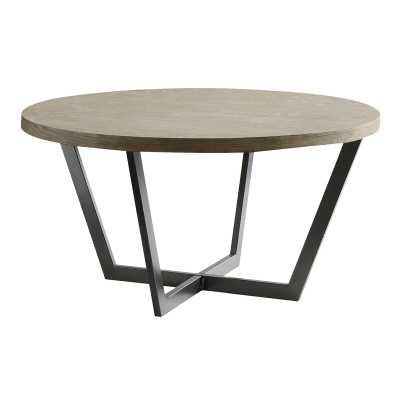 Reimers Slanted Metal and Wood Coffee Table - Wayfair
