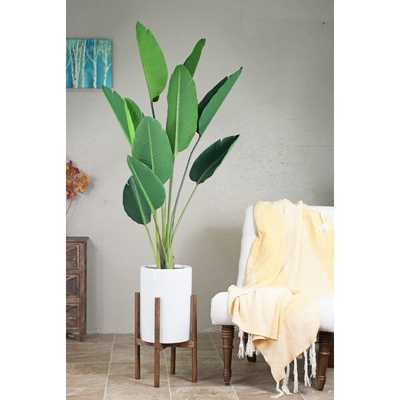 Brantner Ceramic/Wood Pot Planter - Wayfair
