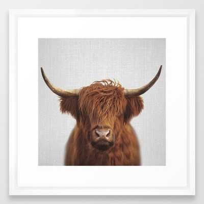 Highland Cow - Colorful Framed Art Print - Society6