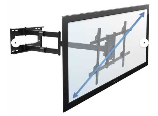 """Hammons Long Arm TV Wall Mount for 41""""-Greater than 50"""" Screens - Wayfair"""