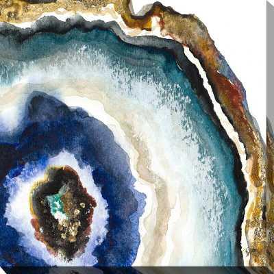 'Up Close Agate Watercolor II' Watercolor Painting Print - Wayfair