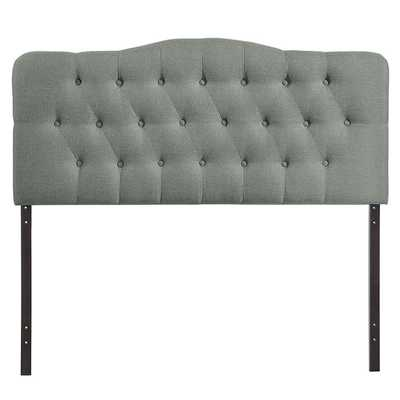 ANNABEL FULL UPHOLSTERED FABRIC HEADBOARD IN GRAY - Modway Furniture
