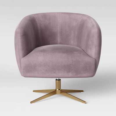 Morpho Swivel Velvet Arm Chair-Pink - Opalhouse™ - Target