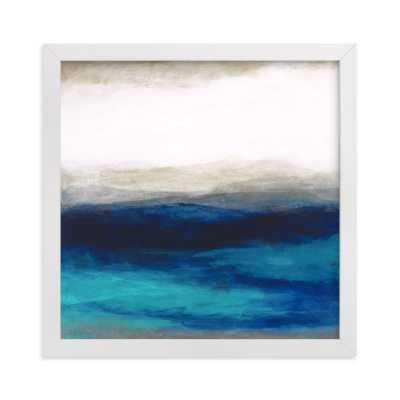 liquid peace - 8x8 -black frame - Minted