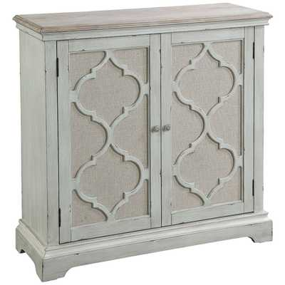 """Sophie 38"""" Wide Weathered Sea Gray 2-Door Accent Cabinet - Style # 89F58 - Lamps Plus"""