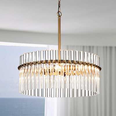 Neva 4-light Brushed Brass Pendant Crystal Chandelier - Wayfair