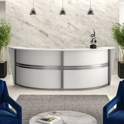 White Juno U-Shape Reception Desk - Wayfair