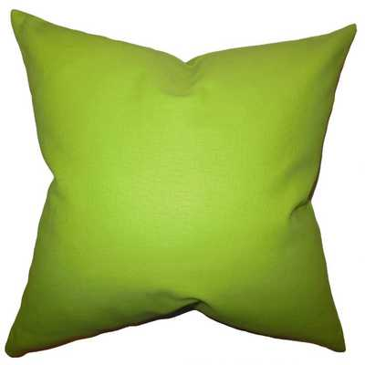 "Kalindi Solid Pillow Chartreuse - 22"" x 22"" - Down Insert included - Linen & Seam"