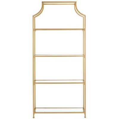 TIMBLIN 4 TIER ETAGERE - BRASS - Wayfair