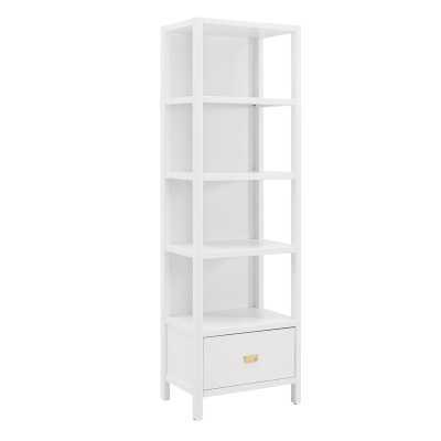 Karole Standard Bookcase - White - Wayfair