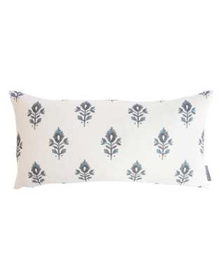 "ADDISON BLOCK PRINT PILLOW COVER WITHOUT INSERT, 12"" x 24"" - McGee & Co."