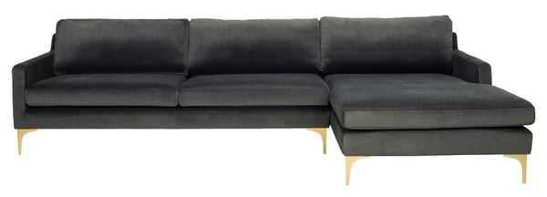 Brayson Chaise Sectional Sofa - Gray - Arlo Home - Arlo Home
