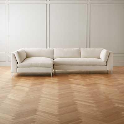 Decker 2-Piece Snow Sectional Sofa - CB2