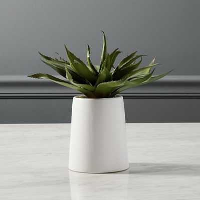 "POTTED FAUX ALOE 9"" - CB2"