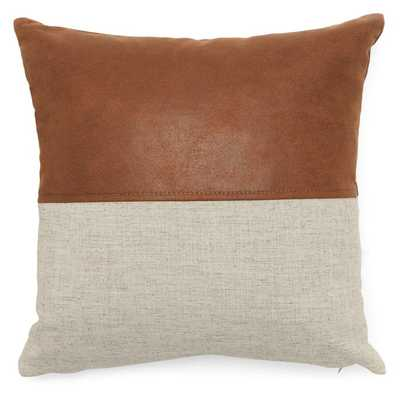 MoDRN Industrial Mixed Material Decorative Throw Pillow - Hayneedle