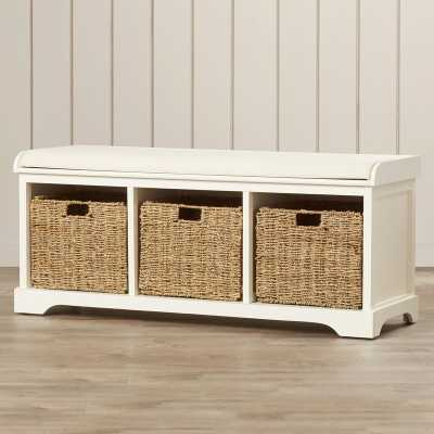 Santa Cruz Upholstered Cubby Storage Bench / White - Wayfair