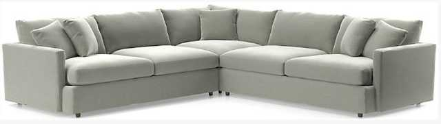 Lounge II 3-Piece Sectional Sofa - View Gray - Crate and Barrel