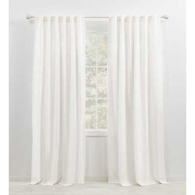 "Leanne Semi-Sheer Rod Pocket Single Curtain Panel - 96""L - Wayfair"