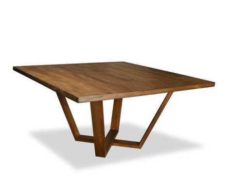 "30"" H x 60"" W x 60"" D Cognac Macarthur Solid Wood Dining Table - Wayfair"