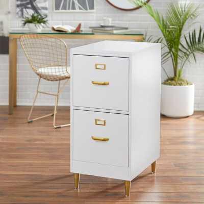 White Dahle 2-Drawer File Cabinet - Wayfair