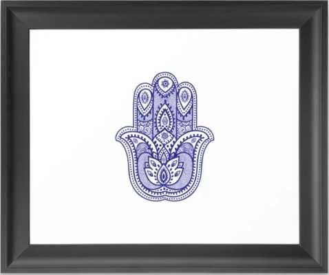 Hamsa Hand of the Goddess Framed Art Print - Society6