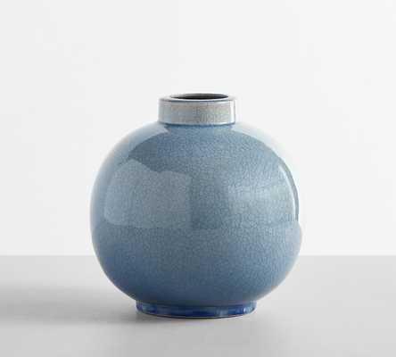 Rhea Crackled Ceramic Vase - Pottery Barn