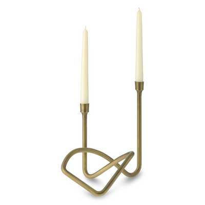 Sculptural Candleholder, Antique Brass - Williams Sonoma
