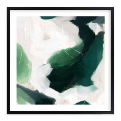"""oja framed - 44x44"""" with white border - rich black wood frame - Minted"""