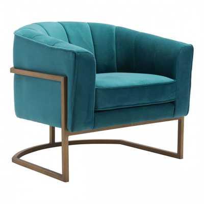 Lyric Occasional Chair Green Velvet - Zuri Studios