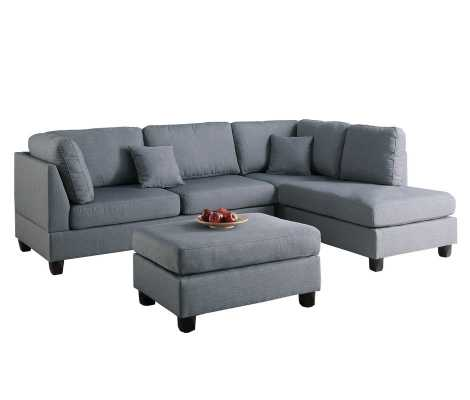 Andover Mills Hemphill Reversible Sofa & Chaise with Ottoman - Wayfair