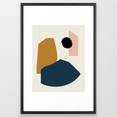 Shape study #1 - Lola Collection Framed Art Print 26 x 38, Vector Black - Society6