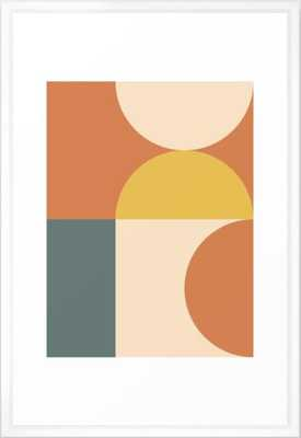 Abstract Geometric 04 Framed Art Print - Vector White Frame - Large Gallery - Society6