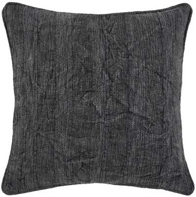 Heirloom Linen Pillow, Charcoal - High Fashion Home