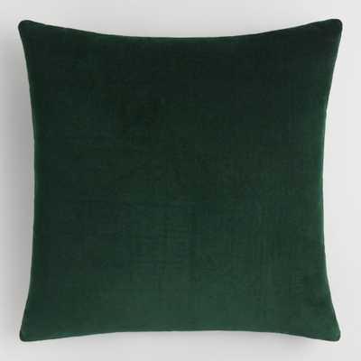 Forest Green Velvet Throw Pillow by World Market - World Market/Cost Plus