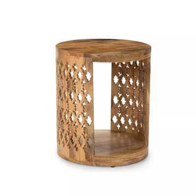Brinley Round End Table Natural - Steve Silver - Target